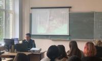 """27 апреля 2021 г. в СП-2 государственный инспектор по пожарному надзору провел со студентами урок на тему """"Чернобыль - экологическая катастрофа""""."""