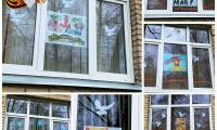 """7 мая 2021 г. студенты и преподаватели СП-2  приняли участие во Всероссийской акции """"Окна Победы""""."""